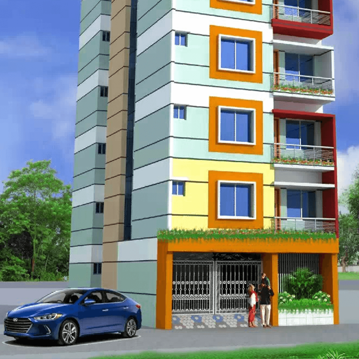 Affordable 2 Bed 2 Bath 675 sft Flat For Sale in Mirpur by Floorfly.com