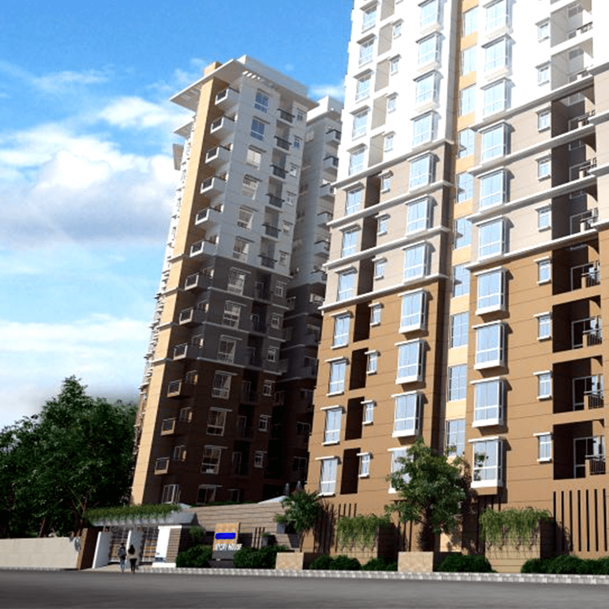 Exclusive 1404 sft 3 Bed Flat For Sale at Agargaon