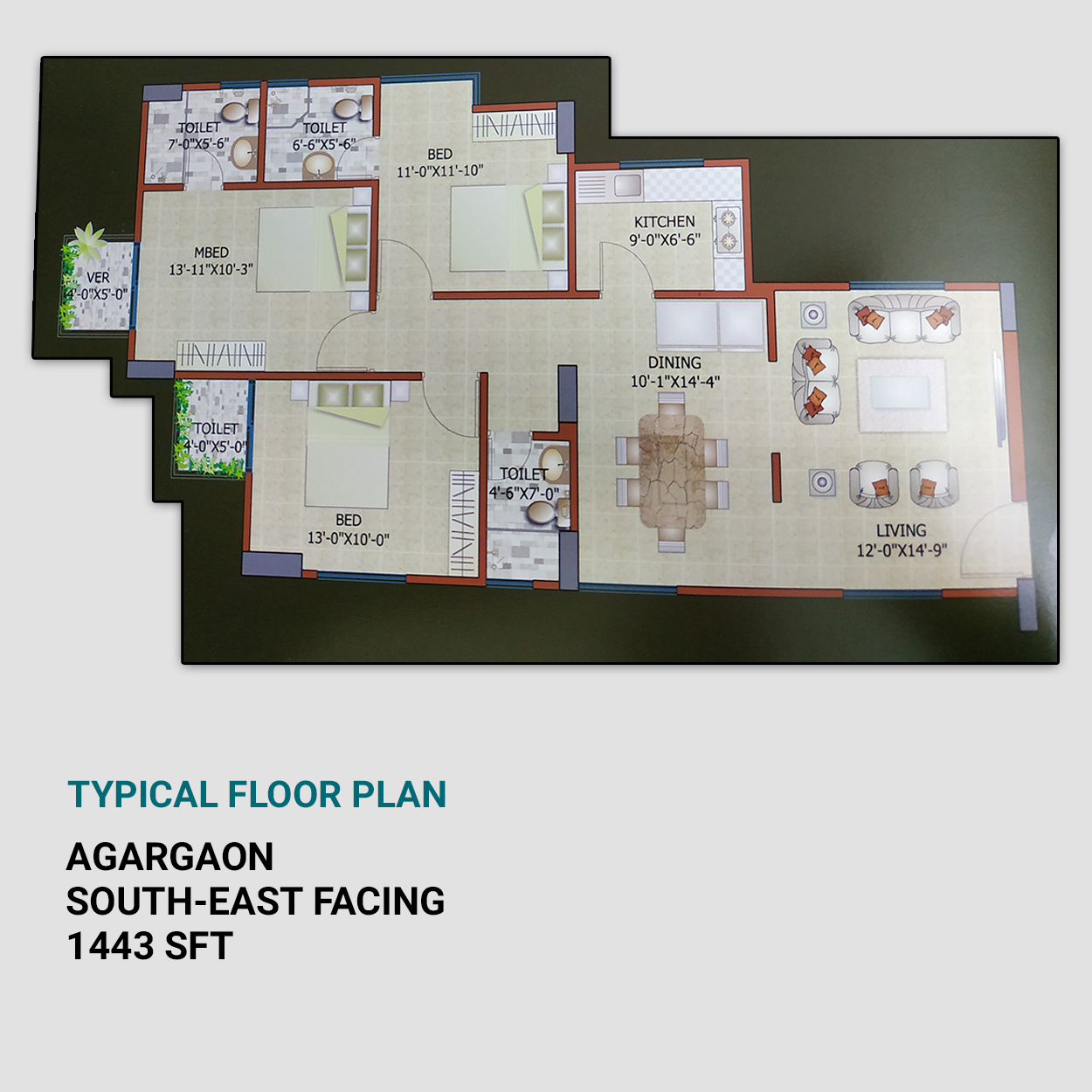 3 Bed Apartment for Sale in Nice Location   Exclusive 1443 sft Flat For Sale in Link Road, Agargaon