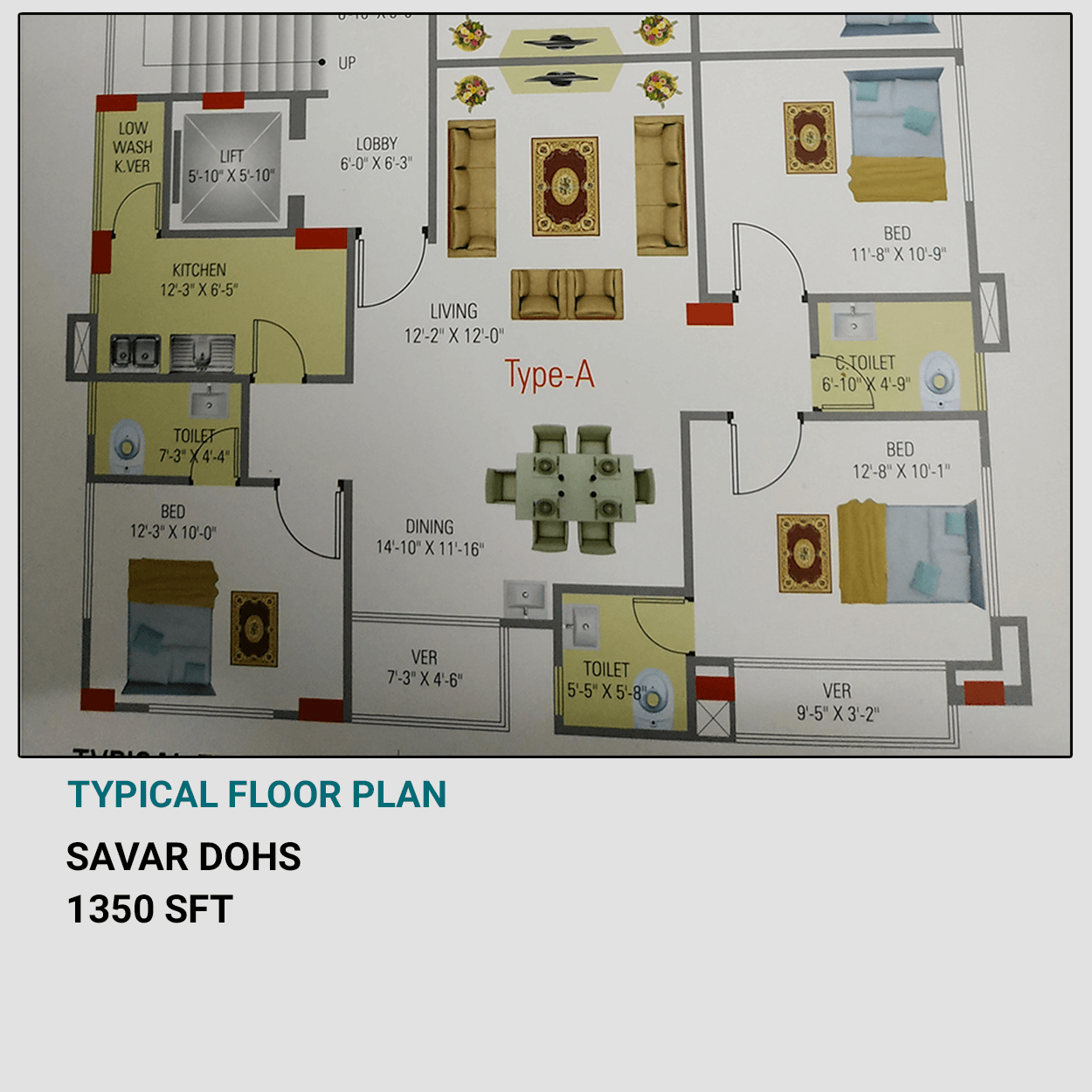 Exclusive 1350 sft Flat For Sale at DOHS, Savar