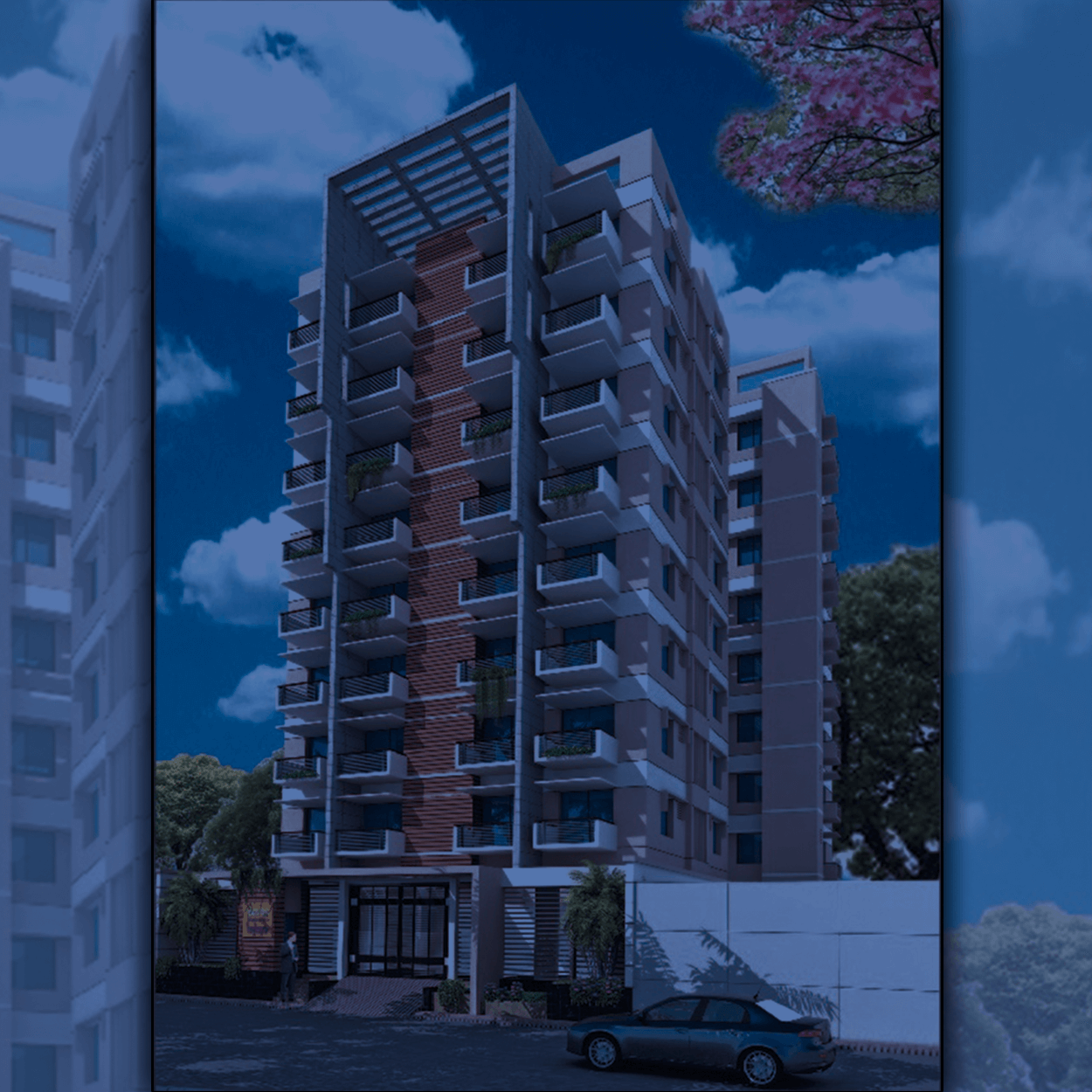 1200sft 3 Bed Flat at Monsurabad Housing in Adabor Mohammadpur for Sale
