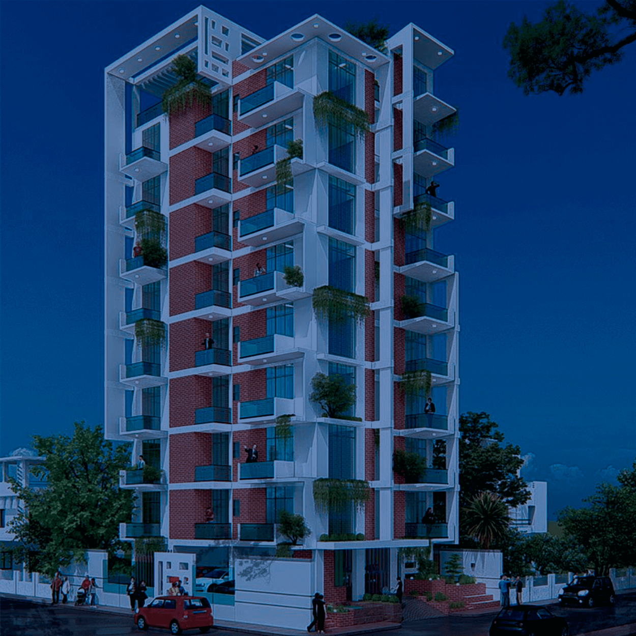 Exclusive 2375 sft Flat For Sale at Bashundhara