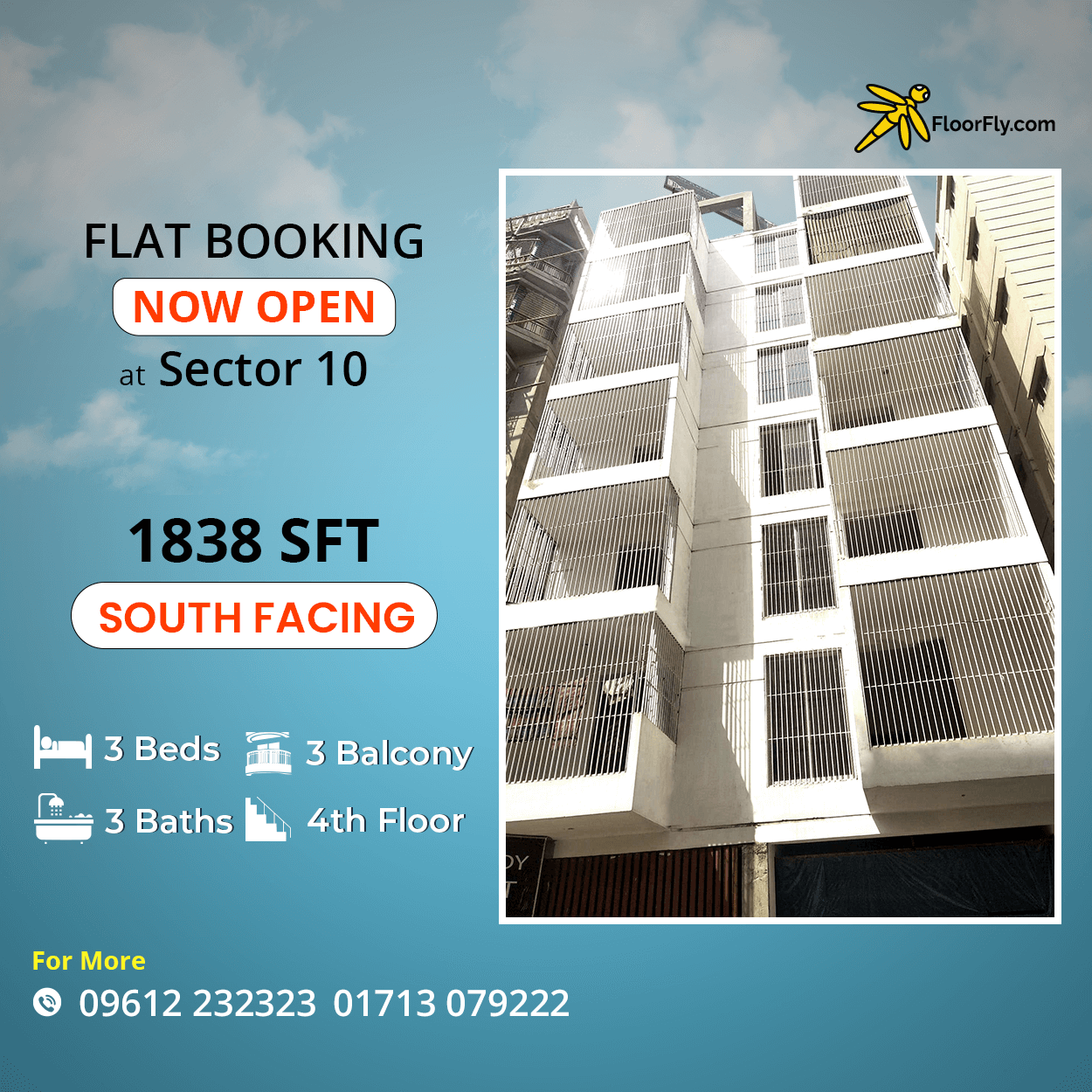 Excellent 1838 sft Flat For Sale in Uttara Sector 10