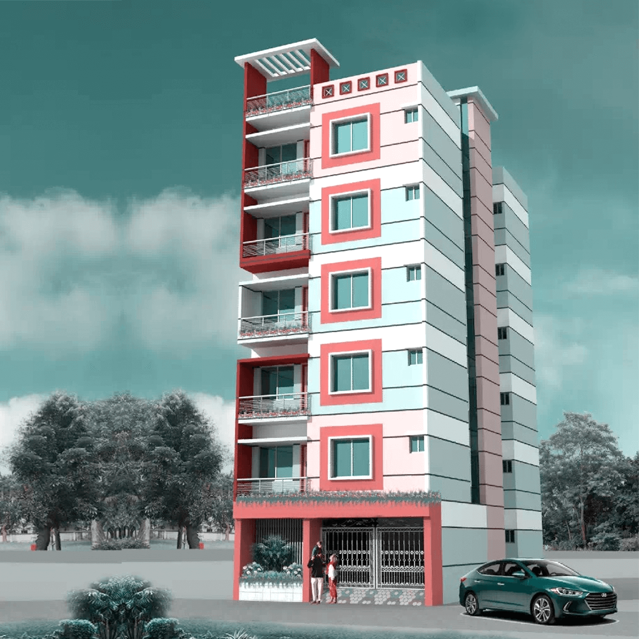 Affordable 4 Bed 4 Bath 1350 sft Flat For Sale in Mirpur by Floorfly.com